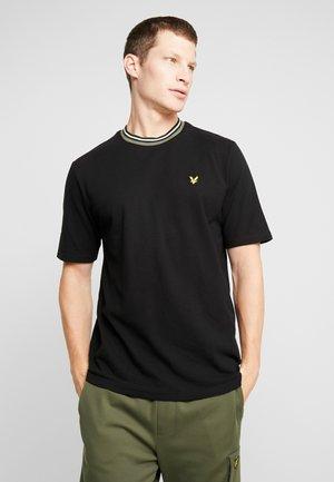 T-shirt med print - true black