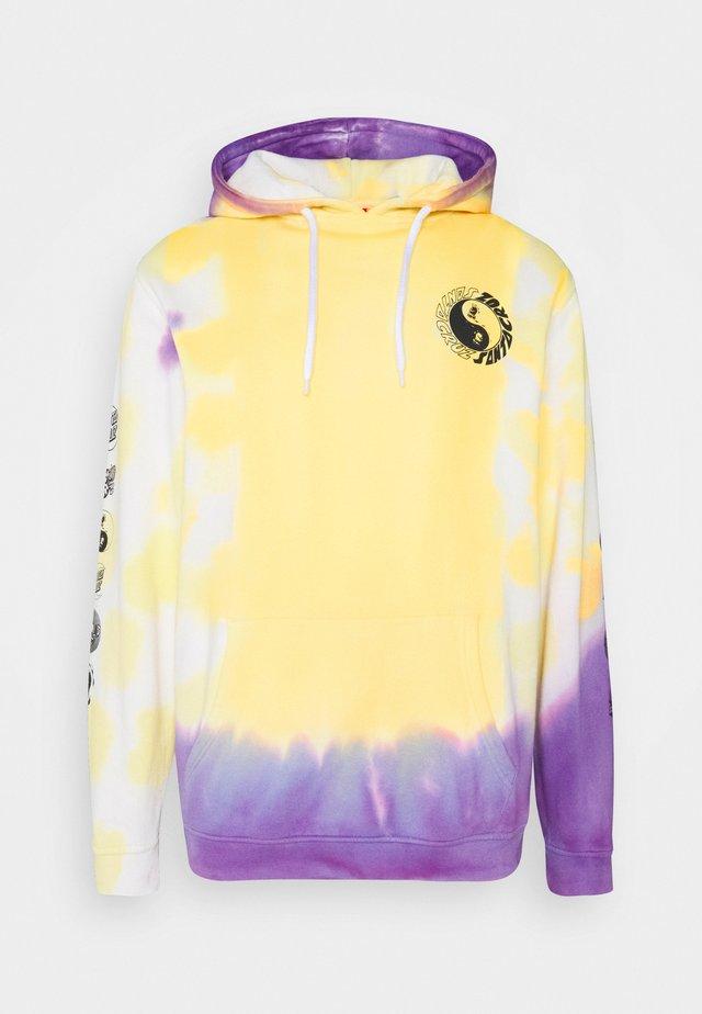 YING YANG HOOD UNISEX - Hoodie - yellow/purple
