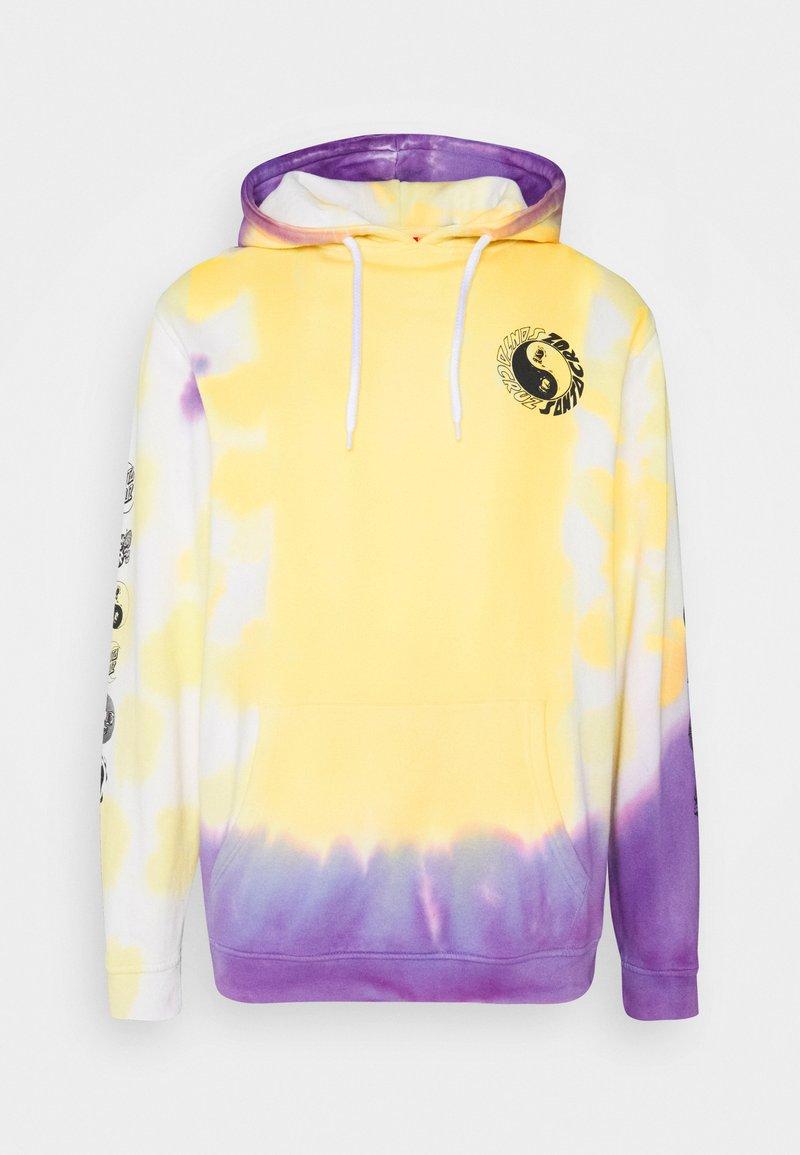 Santa Cruz - YING YANG HOOD UNISEX - Hoodie - yellow/purple
