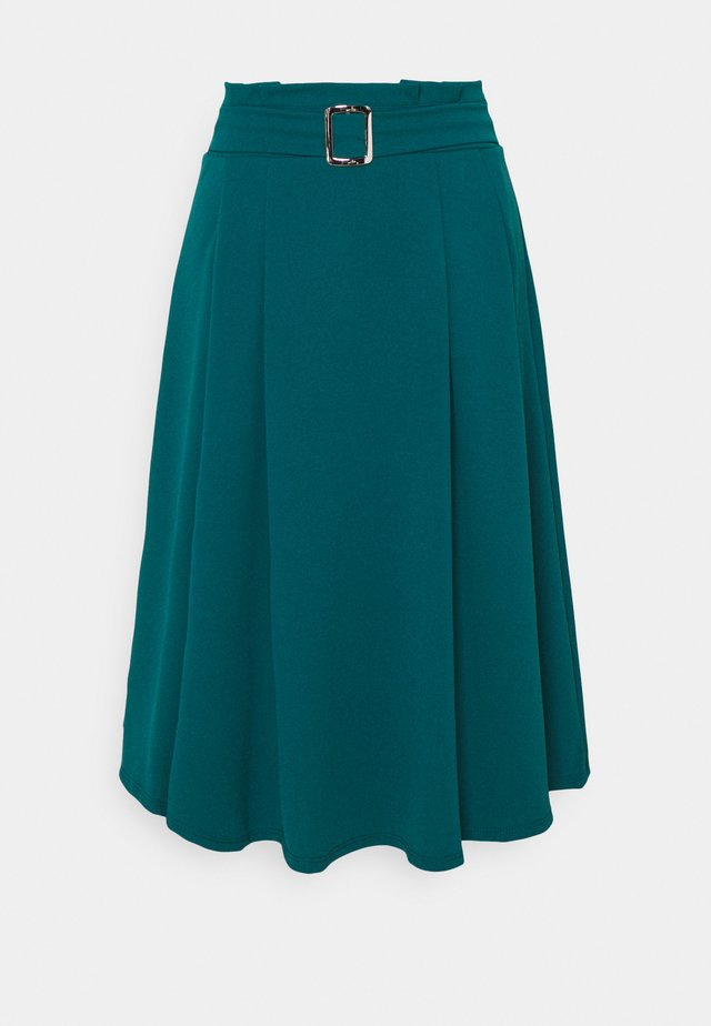 EMERSON MIDI SKIRT - A-linjainen hame - dark teal blue