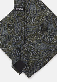 Burton Menswear London - TIE POCKET SQUARE AND PIN SET - Kravata - black - 5