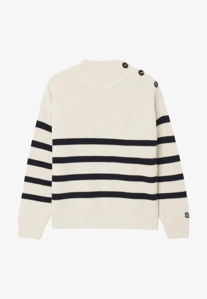 BONDELID - Jumper - offwhite stripe