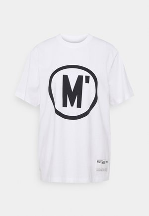 ROUND NECK SHORT SLEEVE - Print T-shirt - white