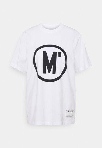 ROUND NECK SHORT SLEEVE - Print T-shirt - white