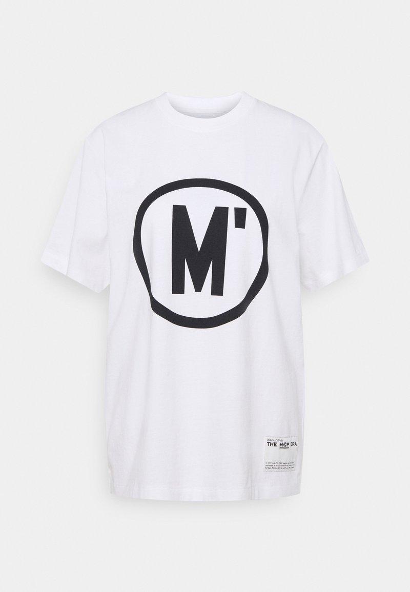 Marc O'Polo - ROUND NECK SHORT SLEEVE - Print T-shirt - white
