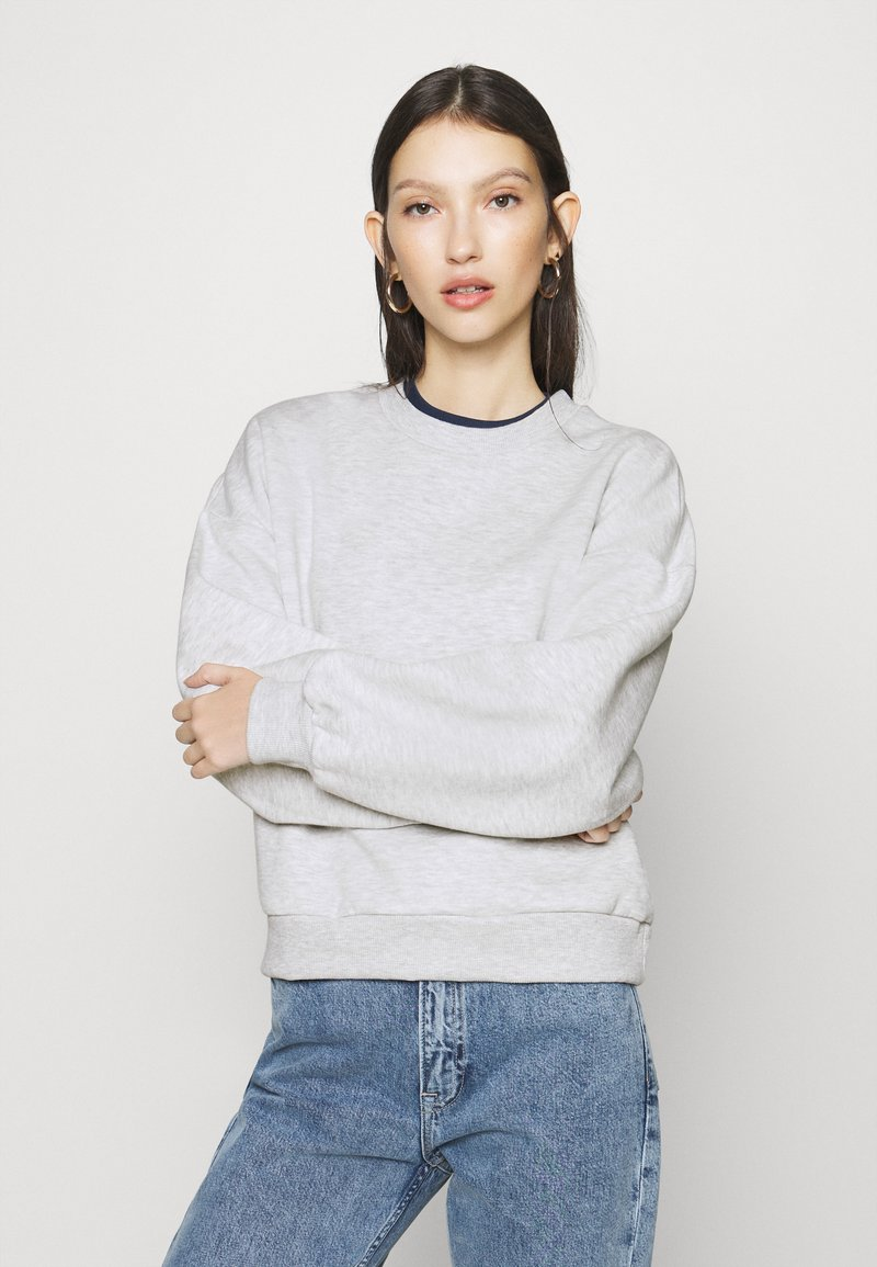 Gina Tricot - BASIC SWEATER - Sweatshirt - light grey melange