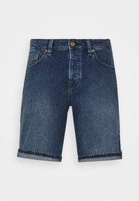 Denim shorts - blazing sky