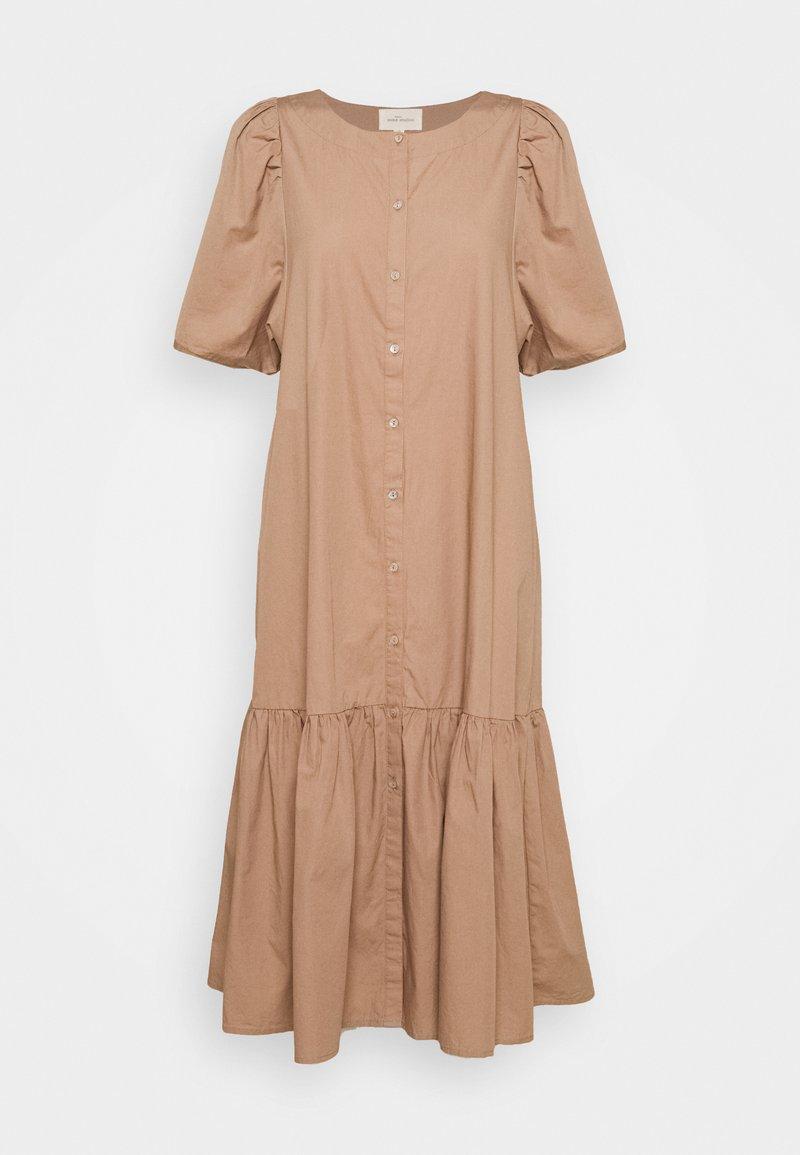 esmé studios - VIVIAN SS MIDI OVERSIZE DRESS - Vestido camisero - brownie