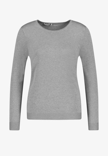 LANGARM RUNDHALS - Sweater - grey melange