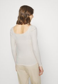 Vila - VILANA SQUARE NECK - Long sleeved top - birch - 2