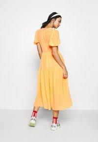 Never Fully Dressed - TIERED SHEER MIDI DRESS - Denní šaty - orange - 2
