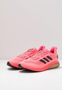 adidas Performance - SUPERNOVA - Neutral running shoes - signal pink/core black/copper metallic - 2