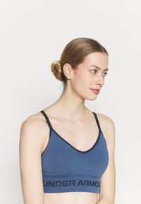 Under Armour - SEAMLESS LOW LONG BRA - Light support sports bra - mineral blue - 3
