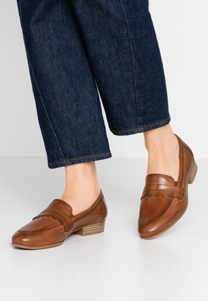 DA.-SLIPPER - Mocasines - cognac