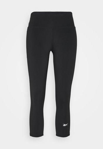 RUNNING ESSENTIALS 3/4 LEGGINGS - Leggings - black