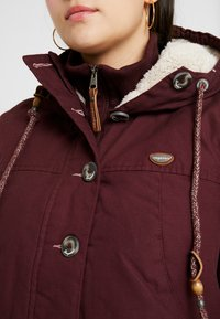 Ragwear Plus - JANE COAT - Parkatakki - wine red - 5