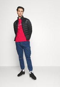 Karl Kani - SIGNATURE LOGO PINSTRIPE TEE - Print T-shirt - red - 1