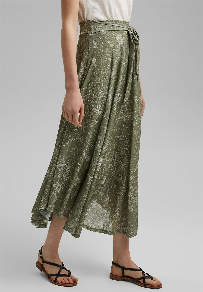 Esprit - Maxi skirt - light khaki