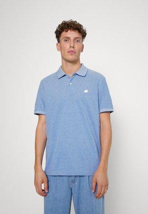 SLIM BIRDSEYE - Polo shirt - antique blue