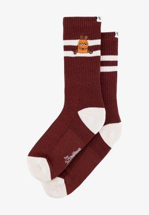 Socks - maroon