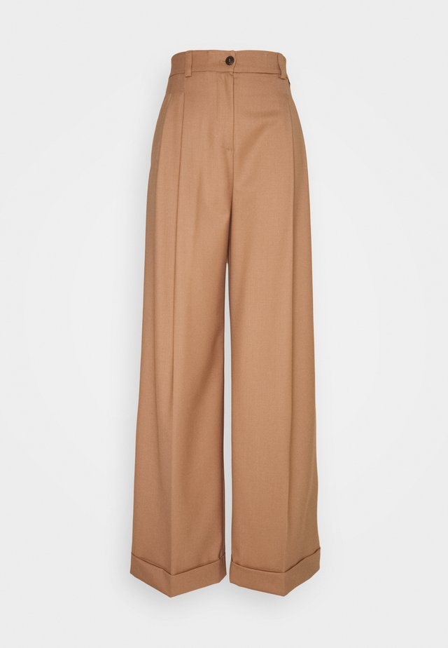 Trousers - cammello