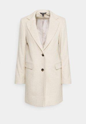 HERRINGBONE COAT - Classic coat - cream/beige