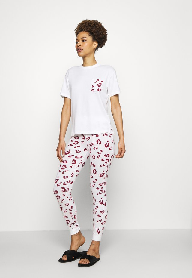 LEOPARD TEE LEGGING - Pyjamas - cream