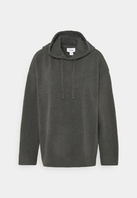 Monki - MARY HOODIE - Jersey con capucha - grey dark - 0