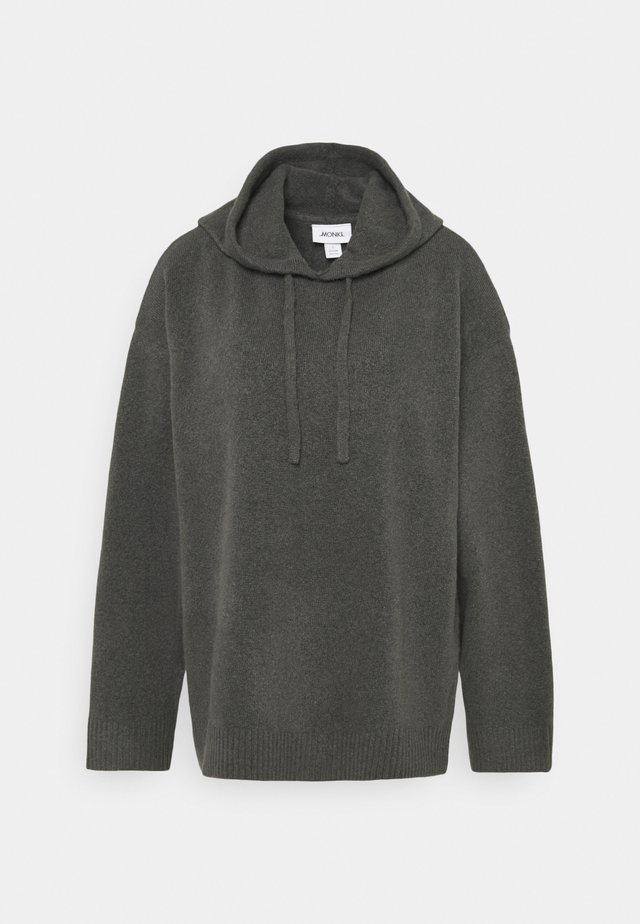 MARY HOODIE - Bluza z kapturem - grey dark