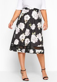 Yours Clothing - LONDON - A-line skirt - black - 0