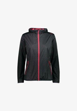 Soft shell jacket - asphalt-nero