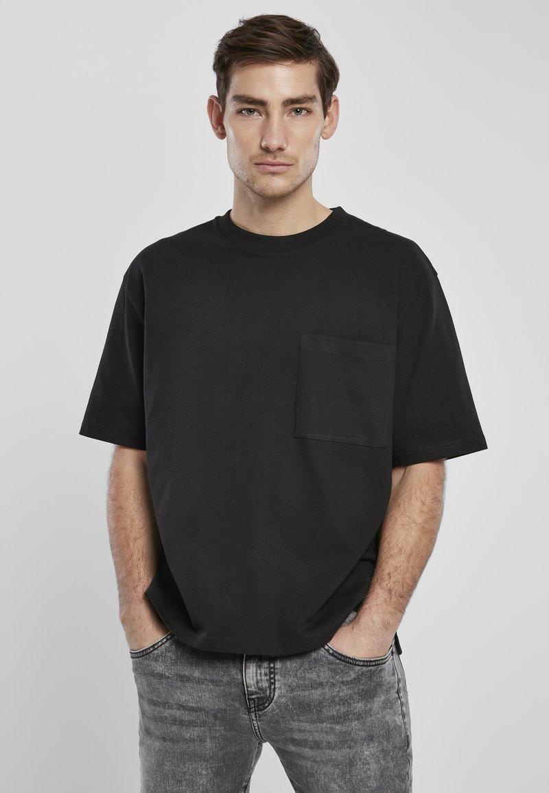 Urban Classics - HEAVY BOXY POCKET TEE - T-shirt - bas - black