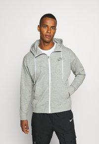 Nike Sportswear - HOODIE - Zip-up hoodie - dark grey heather - 0