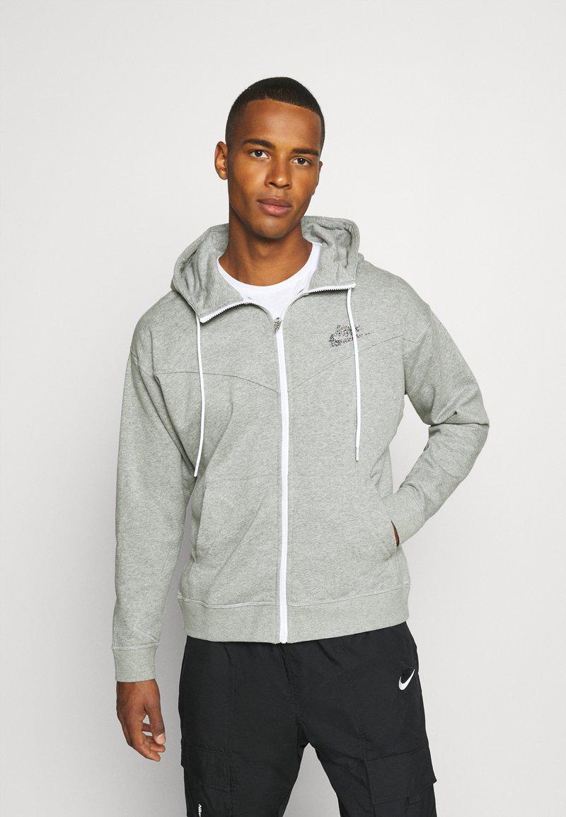 Nike Sportswear - HOODIE - Zip-up hoodie - dark grey heather