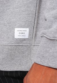 Jack & Jones - JCOPINN HOOD REGULAR FIT - Sweat à capuche - light grey melange - 4
