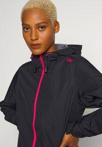 CMP - WOMAN RAIN JACKET FIX HOOD - Outdoor jacket - antracite/gloss - 4