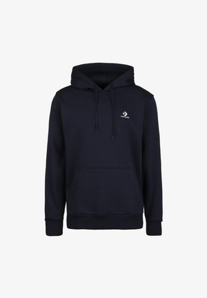 EMBROIDERED STAR HOODIE - Pulover s kapuco - obsidian
