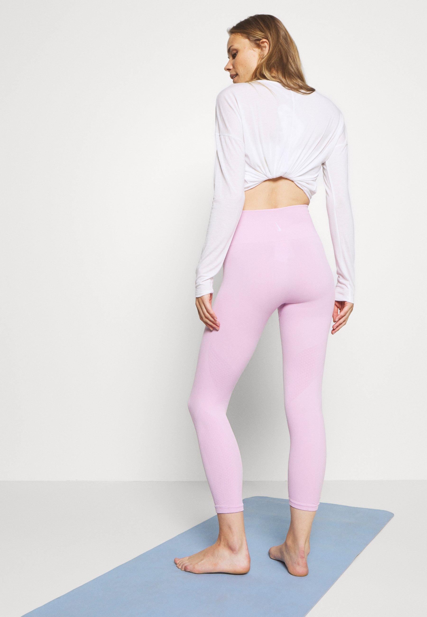 Nike Performance SEAMLESS 7/8 - Leggings - light arctic pink/white Bxeeb