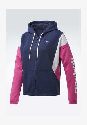 TRAINING ESSENTIALS LOGO HOODIE - Zip-up hoodie - blue