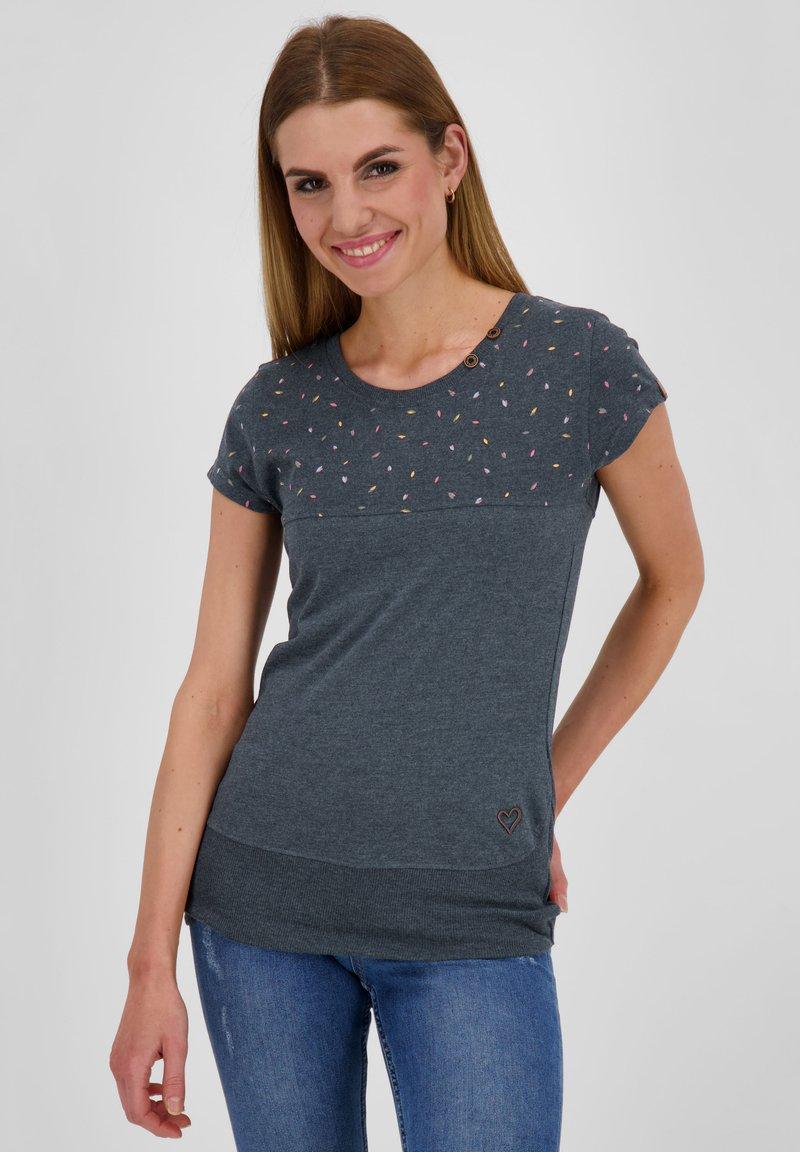 alife & kickin - CORAAK - Print T-shirt - marine