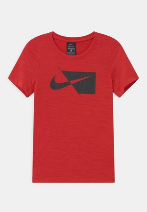T-shirt print - university red/black