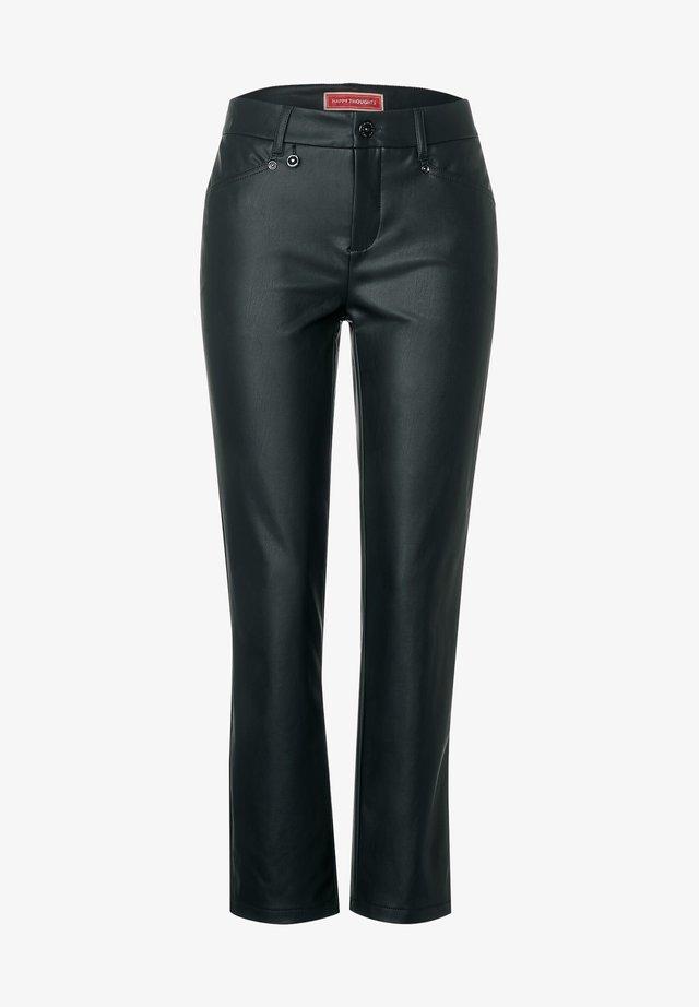 Leather trousers - grün