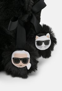 KARL LAGERFELD - KASA TWIN POMPOM BOOT - Slippers - black - 5
