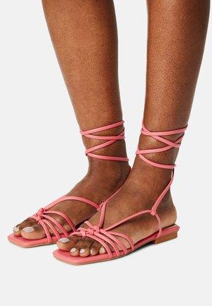 MAYSON - T-bar sandals - coral