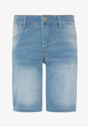 NKMSOFUS  - Shorts vaqueros - light blue denim
