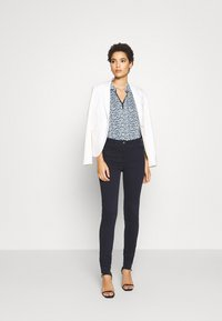 TOM TAILOR - BLOUSE WITH COLLAR - Blouse - navy blue - 1
