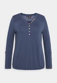Ragwear Plus - PINCH SOLID PLUS - Top sdlouhým rukávem - blue - 5