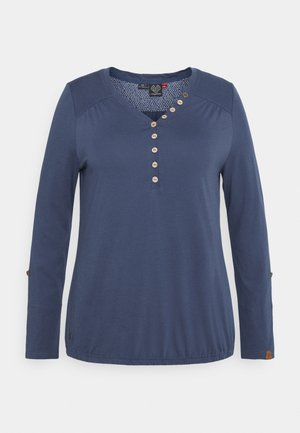 PINCH SOLID PLUS - Long sleeved top - blue