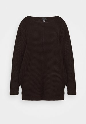 EXPOSED SEAM CASH BAWTING - Strikpullover /Striktrøjer - black
