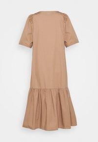 esmé studios - VIVIAN SS MIDI OVERSIZE DRESS - Vestido camisero - brownie - 1